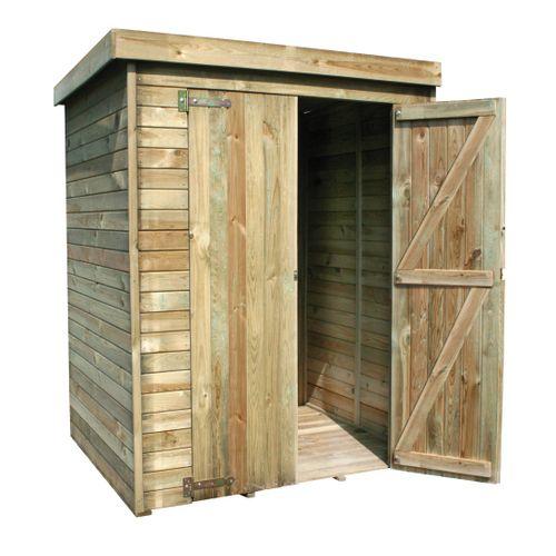 Armoire de jardin Forest-style Theofil bois 132x150cm