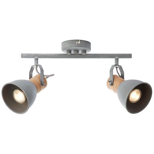 Brilliant spot LED Frieda betongrijs 2x5W