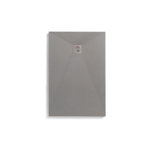 Royo douchebak Kurai 110x100cm steeneffect rechthoekig grijs