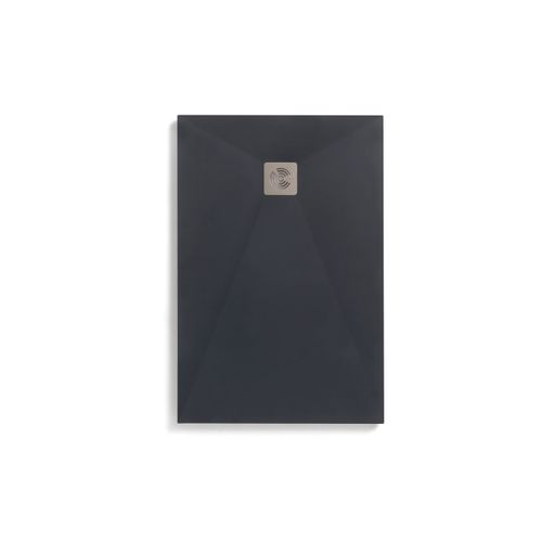 Royo douchebak Kurai 120x100cm textieleffect rechthoekig antraciet