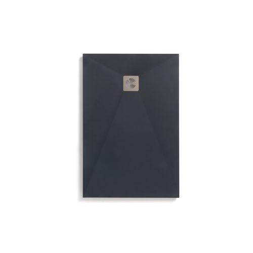 Royo douchebak Kurai 180x100cm textieleffect rechthoekig antraciet