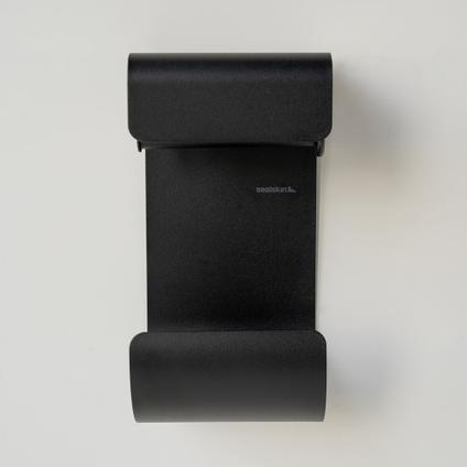 Porte-papier de toilette + réserve Sealskin Brix noir mat à suspendre