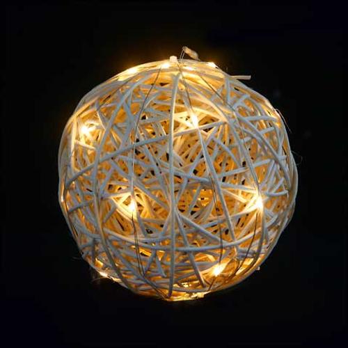 Décoration de Noël boule de rotin leds boule de Noël Central Park