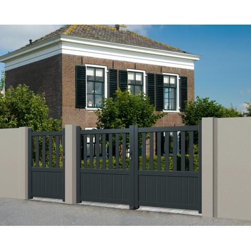 Gardengate dubbele draaipoort Crato aluminium 300x140cm