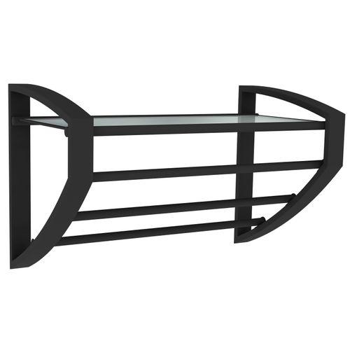 Allibert handdoekhouder Loft-Game 3 stangen zwart mat
