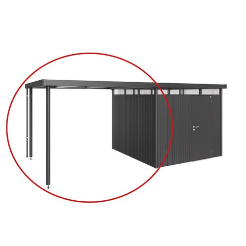 Biohort afdak Highline H4 donkergrijs 282x275x222cm