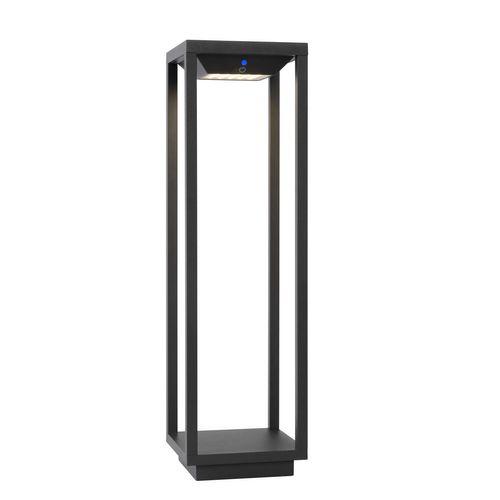 Lucide sokkellamp LED Tenso Solar grijs 2,2W