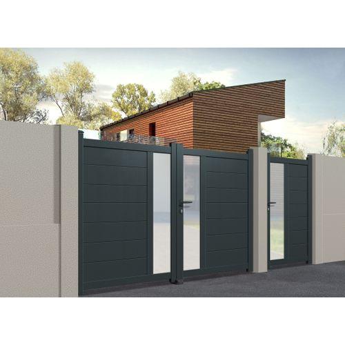 Gardengate dubbele draaipoort Fonte aluminium 350x162cm