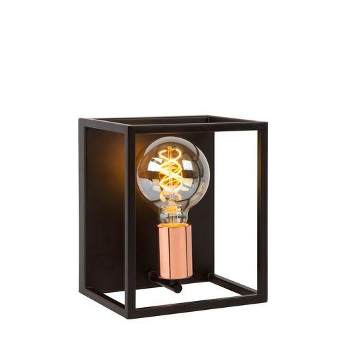 Lucide wandlamp Arthurt zwart E27