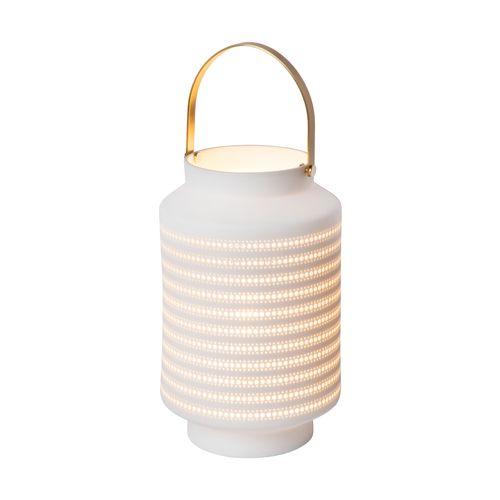 Lampe de table Lucide Jamila blanc