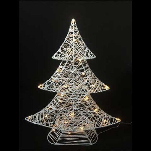 Lumières de Noël arbre de Noël blanc Central Park