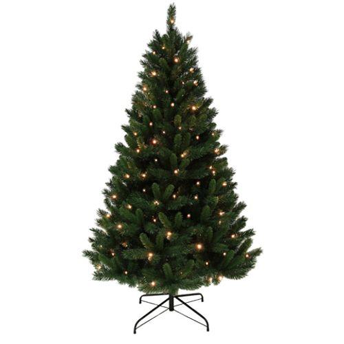 Sapin de Noël 2 couleurs illuminé Central Park 180cm
