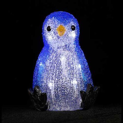 Central Park kerstdecoratie pinquin met led
