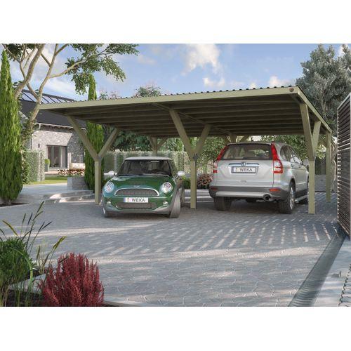 Weka carport-duo 612 met PVC dak 594x606cm