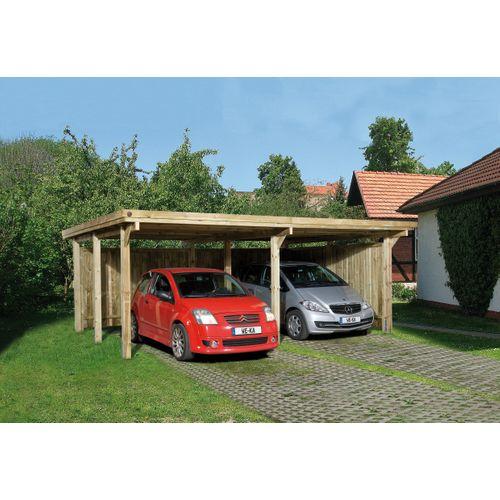 Weka carport 618 Gr.1 onbehandeld + dak 512x576cm