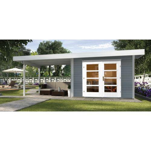 Weka tuinhuis Design 126B+ GR.1 grijs 17,45m²