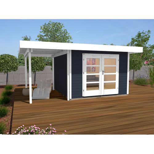 Weka tuinhuis Design 126A+ GR.1 antraciet 13,05m²