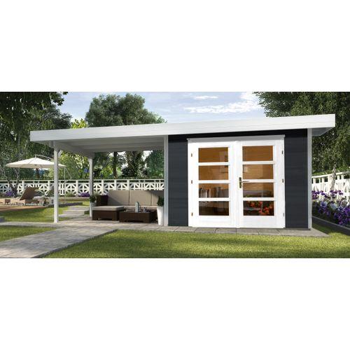 Weka tuinhuis Design 126B+ GR.1 antraciet 17,45m²