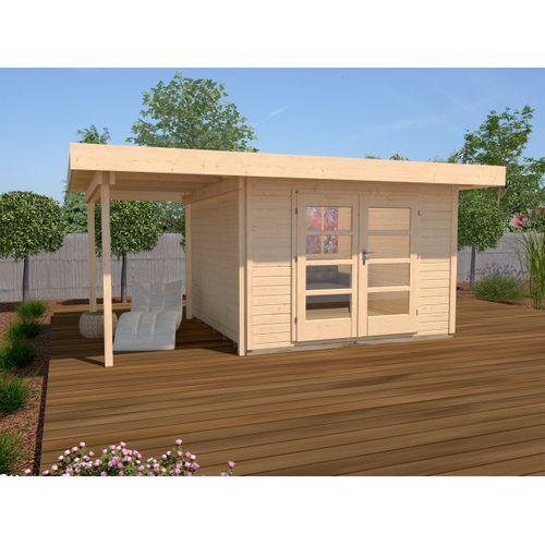 Weka tuinhuis Design 126A+ GR.2 naturel 13,05m²