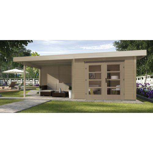 Abri de jardin Weka Design 126B + GR.2 naturel 17,45m²