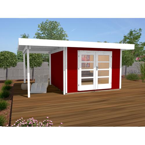 Weka tuinhuis Design 126A+ GR.2 rood 8,99m²