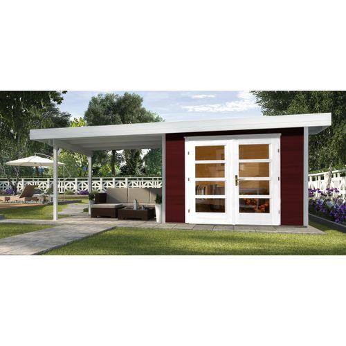 Weka tuinhuis Design 126B+ GR.2 rood 12,47m²