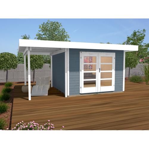 Weka tuinhuis Design 126A+ GR.2 grijs 8,99m²