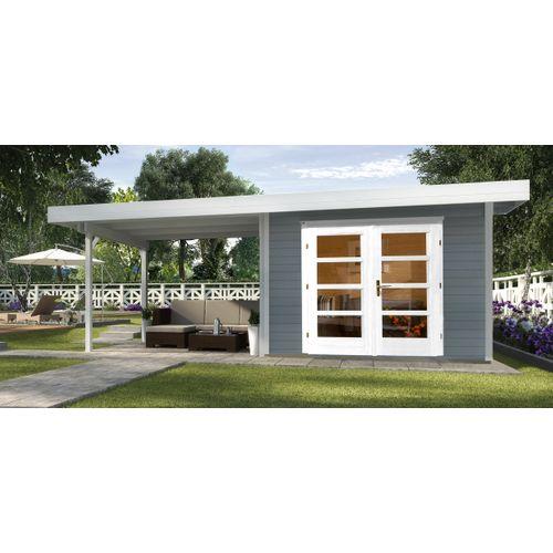 Weka tuinhuis Design 126B+ GR.2 grijs 12,47m²