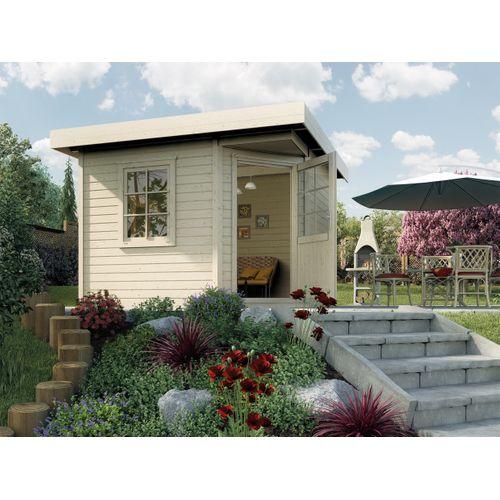 Weka tuinhuis Design 213+ GR.1 gebroken wit 5,53m²