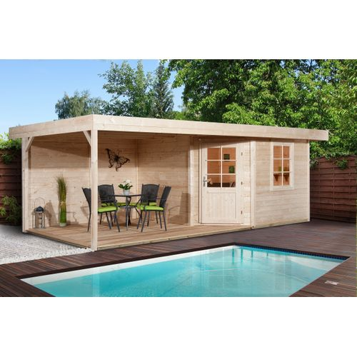 Weka tuinhuis Design 213B+ GR.1 naturel 12,47m²