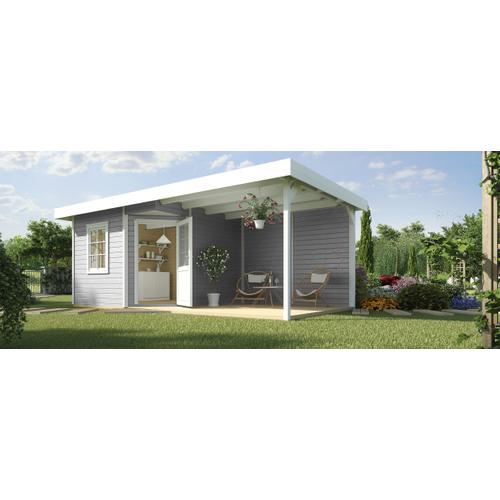 Weka tuinhuis Design 213B+ GR.1 grijs 12,47m²