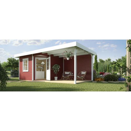 Weka tuinhuis Design 213B+ GR.2 rood 5,51m²
