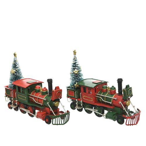 Figurine de Noël train en fer 20cm