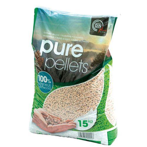 Pellets de bois Din Plus Pure Pellets 15kg 65pcs + palette