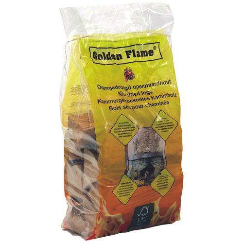 Bûches de bois Golden Flame Bois Sec 10,5dm³ 77pcs + palette