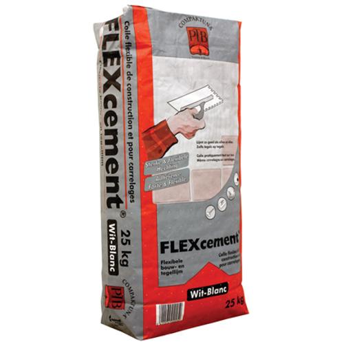 Colle flexible PTB-compaktuna 'Flexcement' blanc 25 kg