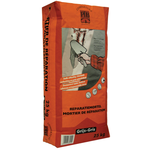 PTB-compaktuna reparatiemortel grijs 25 kg