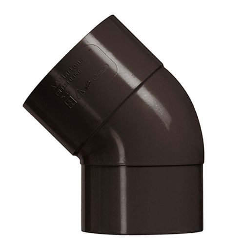 Coude Martens brun 80 mm 45 dgr PVC