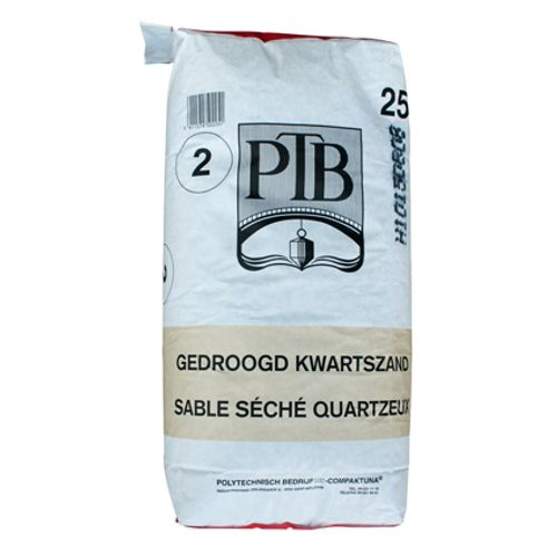 PTB gedroogd kwartszand 'type 2' 25 kg