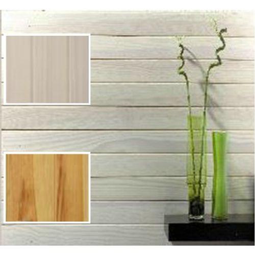 Lambris pin des Landes blanc cérusé 10 mm