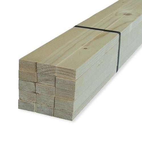 Ruw hout witte Noorse den 300 x 3,2 x 1,9 cm
