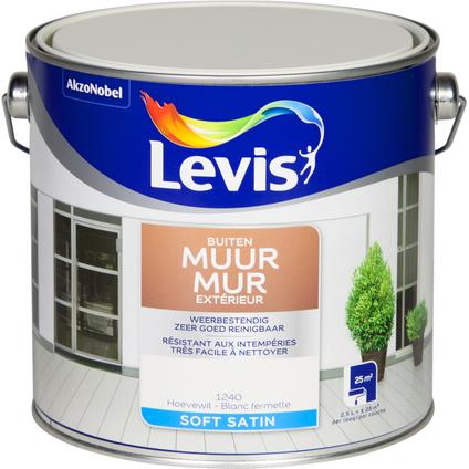 Peinture murale 'Levis 'Façade Expert' blanc fermette satin 2,5L