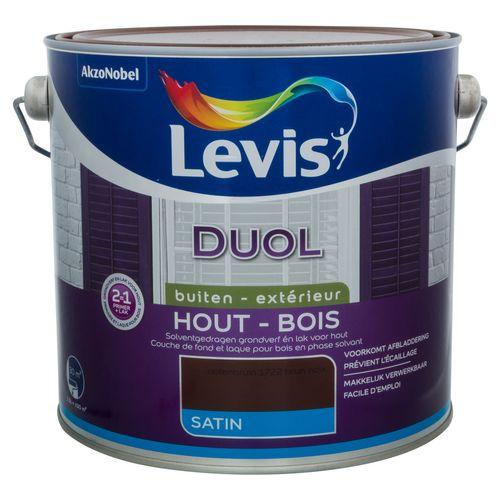 Laque Levis Duol brun noix satin 2,5L