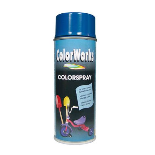 Laque ColorWorks 'Color' bleu gentiane brillant 400ml