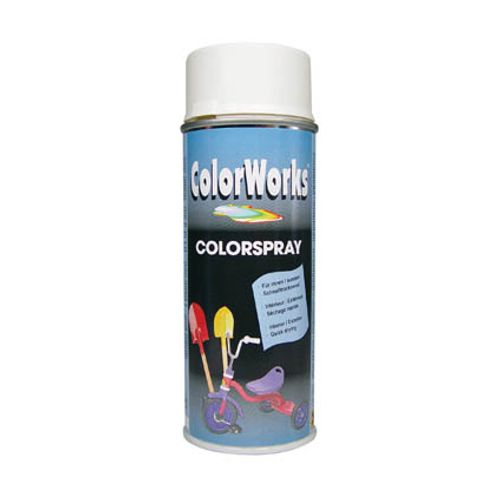 Laque ColorWorks 'Color' blanc satin 400ml