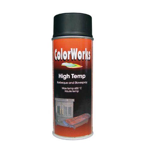 ColorWorks spray lak 'High Temperature' zwart 400ml