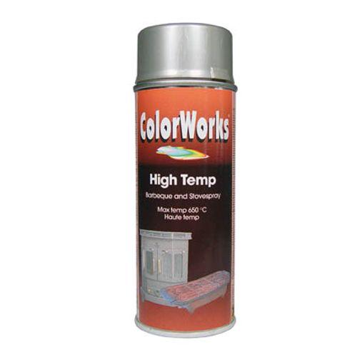 Spray laque ColorWorks 'High Temperature' argent 400ml
