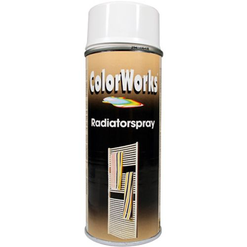 Laque spray radiateur Color Works blanc 400ml