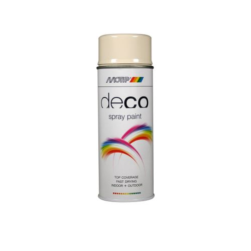 Peinture en spray MoTip Deco Colors blanc perlé brillant 400 ml