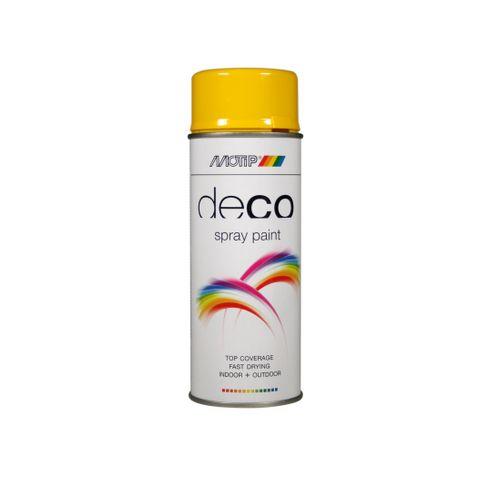 Peinture en spray MoTip CRAFTS jaune colza brillant 400 ml